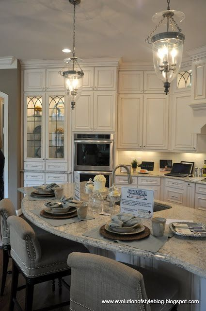 South Shore Decorating Blog: 50 Favorites for Friday #130 - ALL WHITE ROOM EDITION   light pendants for over kitchen sink area.