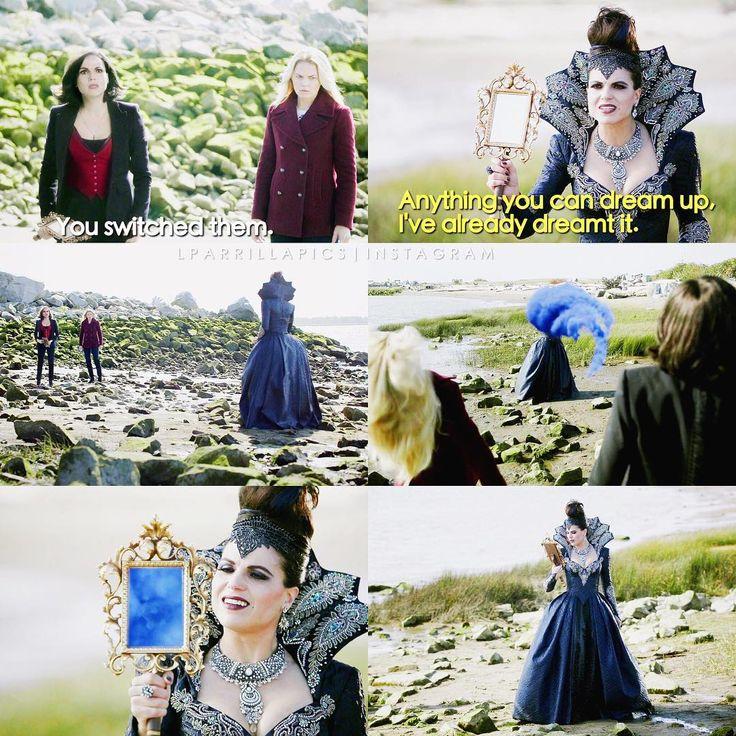 """Emma, Regina and Evil Queen - 6 * 8 """"I'll be your mirror"""""""