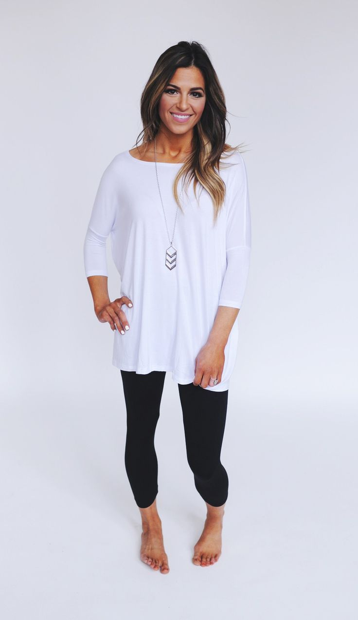 Find and save ideas about Long tops for leggings on Pinterest. | See more ideas about Long tunics for leggings, Long shirts for leggings and Tunic tops for leggings. Women's fashion. Long tops for leggings Spring Outfits with Black Leggings + TONS of Long Tops for Leggings See more.