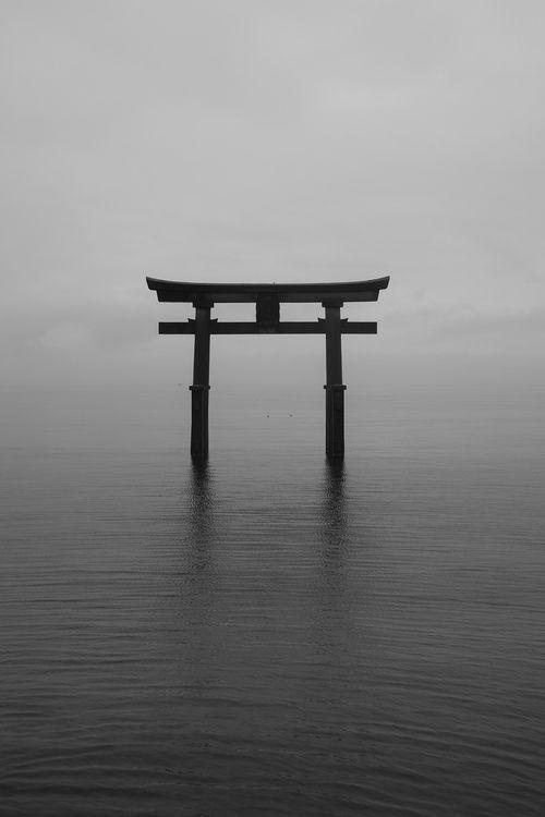 'Shirahige Shrine # 3' by nipomen2.   Shirahige Jinja (白鬚神社) is a Shinto shrine in Takashima, Shiga Prefecture,  Japan.