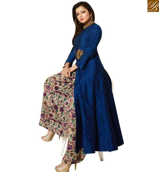 STYLISH BAZAAR MADHUBALA DRASHTI DHAMI MARVELOUS NEW DESIGNER PLAZZO SUIT…
