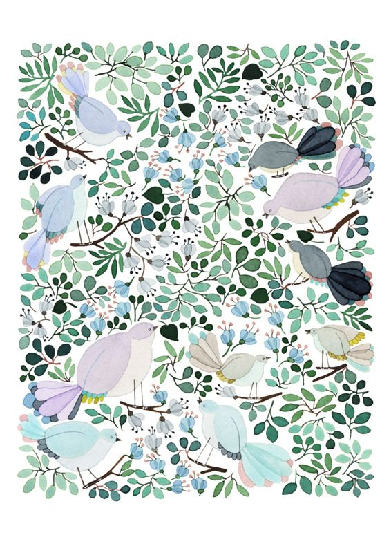 Anna Emilia — Forest Cuckoo -print