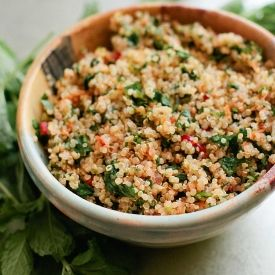 Spicy Carrot and Quinoa Tabbouleh