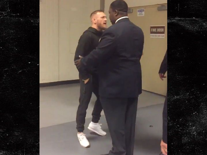 Conor McGregor -- Confronts Tyron Woodley ... 'You're Like a Woman' (VIDEO)