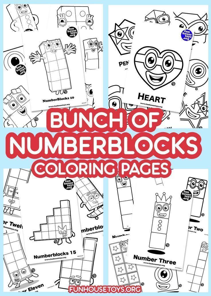 Numberblocks 9 Printable Coloring Page Coloring For Kids Coloring Pages For Kids Coloring Pages