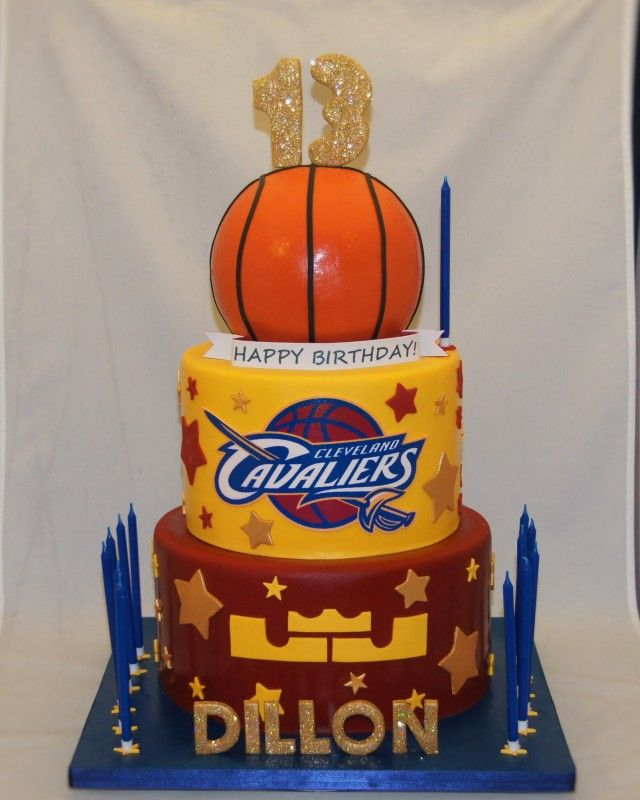 Cleveland Cavaliers 13th birthday cake