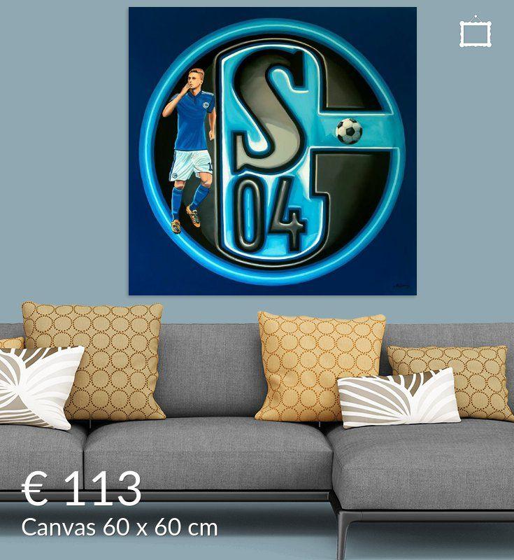 Nieuw in mijn Werk aan de Muur shop: FC Schalke 04 Gelsenkirchen Schilderij
