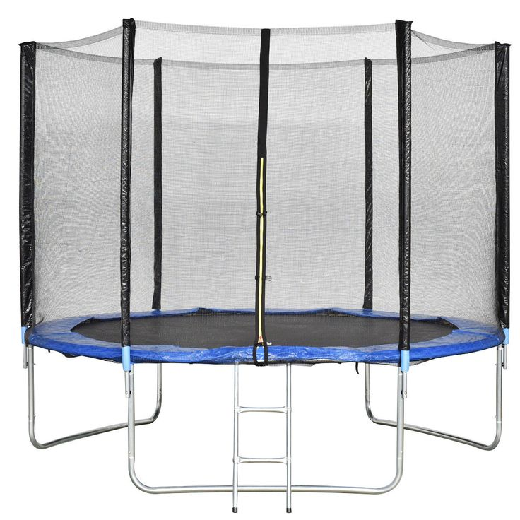 10 ft Combo Bounce Jump Safety Trampoline w/ Spring Pad Ladder
