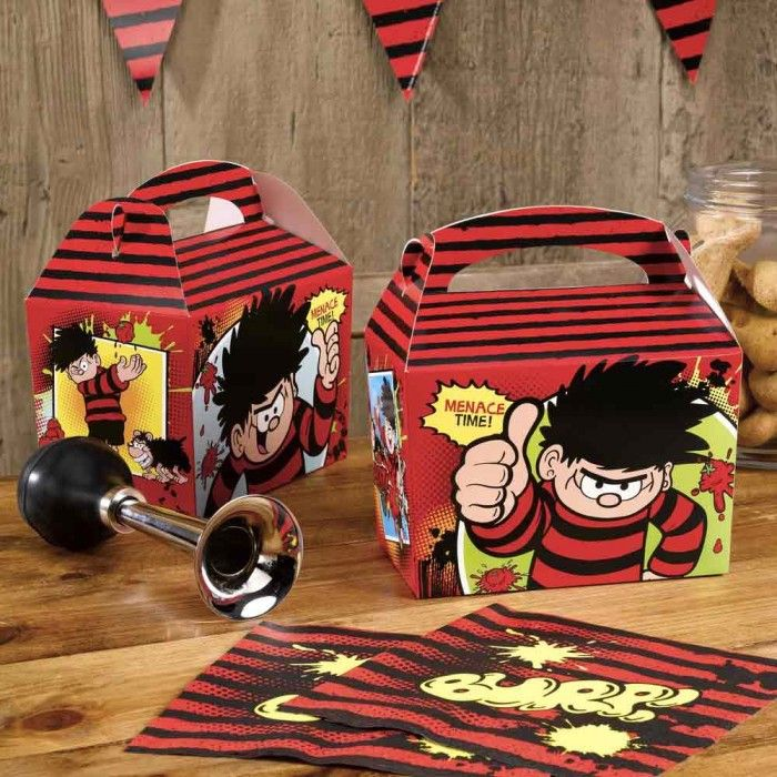 Dennis the Menace Party Boxes 8pk add to the dennis the menace party range Swap a traditional party spread for individual lunchboxes with these