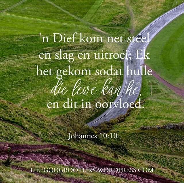 God dankie vir die oorvloedige lewe en vreugde wat ons ervaar in Jesus Christus #liefgodgrootliks