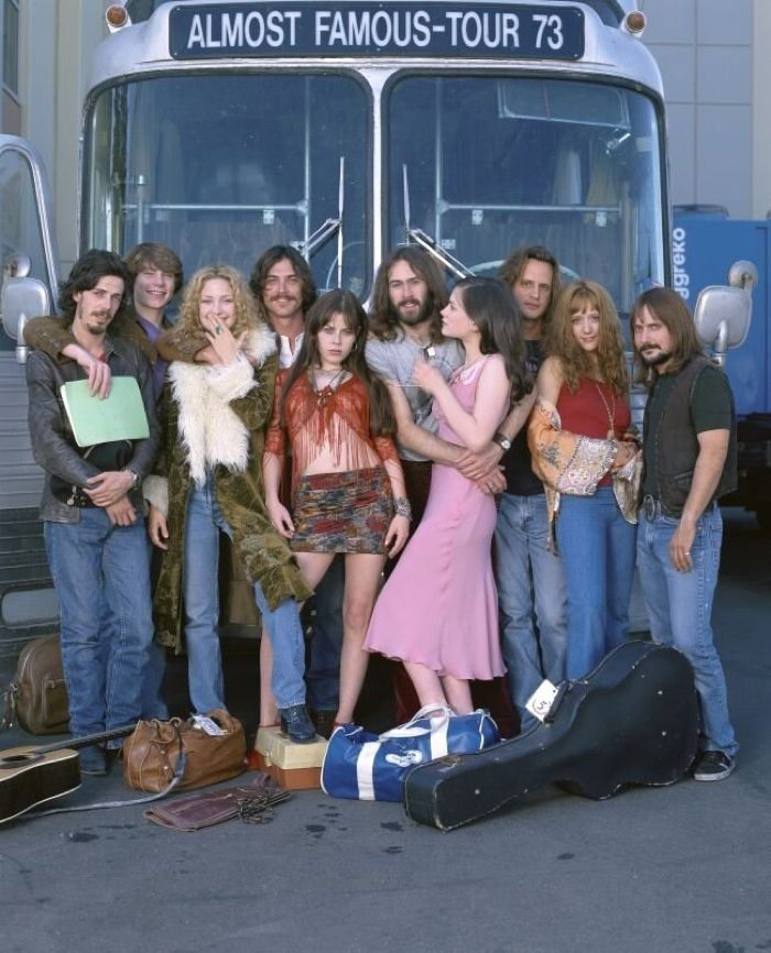 The cast of 'Almost Famous'  channeled 1970s fashion in the 2000 film.