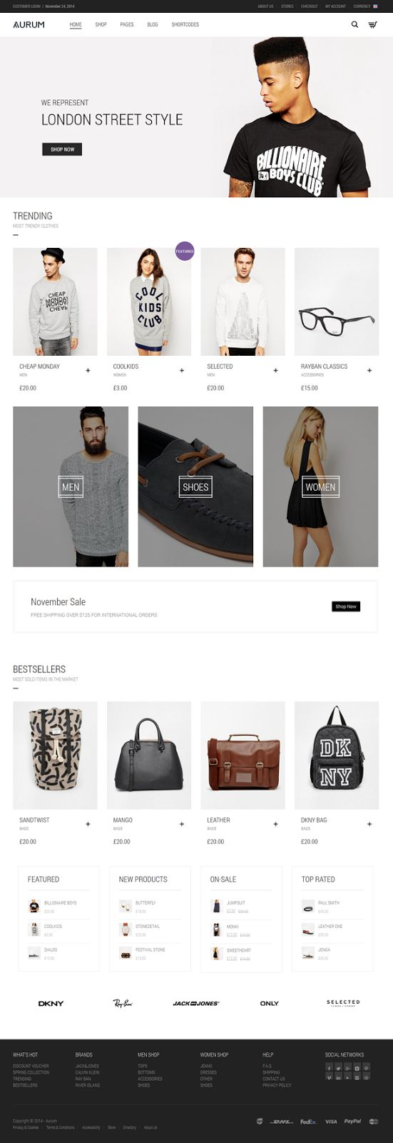 Minimalist multipurpose shopping theme