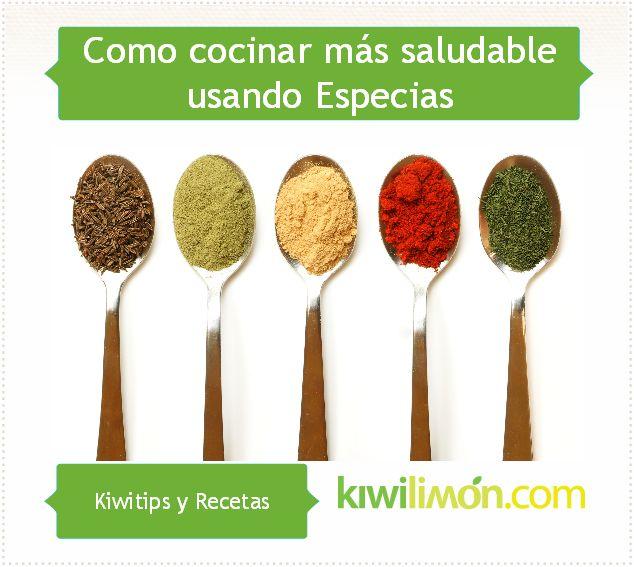 Aprende a sazonar tus recetas con especias y asi evitar el sazón de otros ingredientes altos en grasa y calorías.