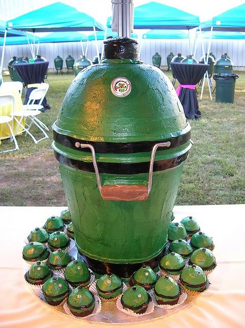 big green egg cake. LOVE IT