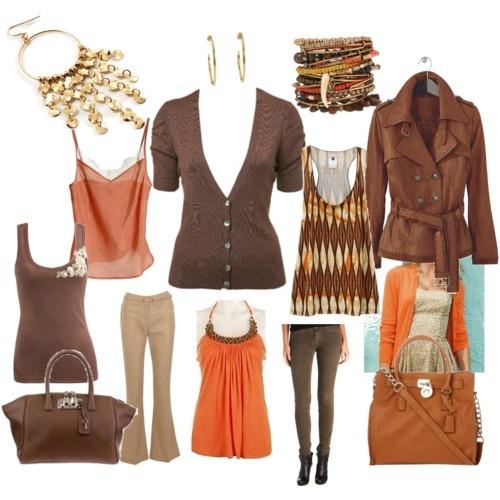 Wardrobe Capsule - Pumpkin Orange & Brown for Autumn.