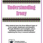 Free! Understanding Verbal, Situational, and Dramatic Irony