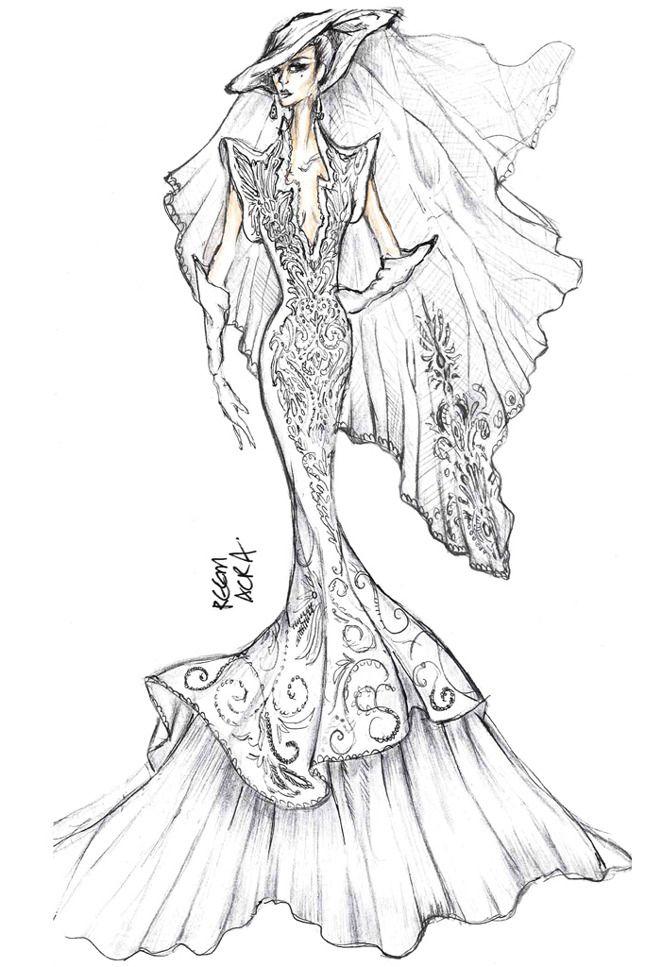 35 эскизов свадебного платья Леди Гаги от модных дизайнеров :: JustLady.ru - территория женских разговоров