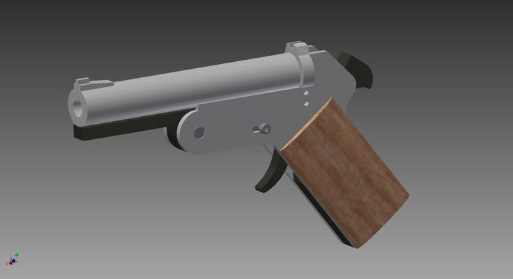 Liberator Pistol 38 - STEP / IGES,Autodesk Inventor,AutoCAD,Autodesk Inventor - 3D CAD model - GrabCAD