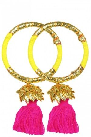 Bangles with gota and tassels