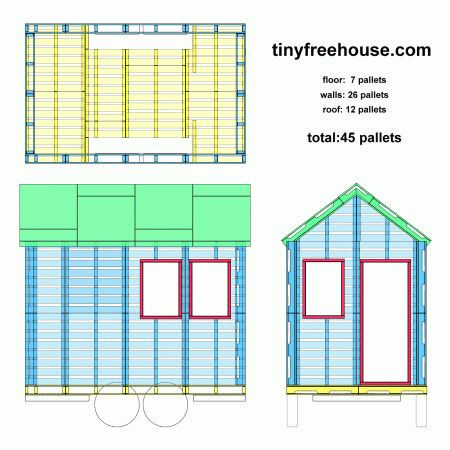 17 Best ideas about Pallet House Plans on Pinterest Pallet house