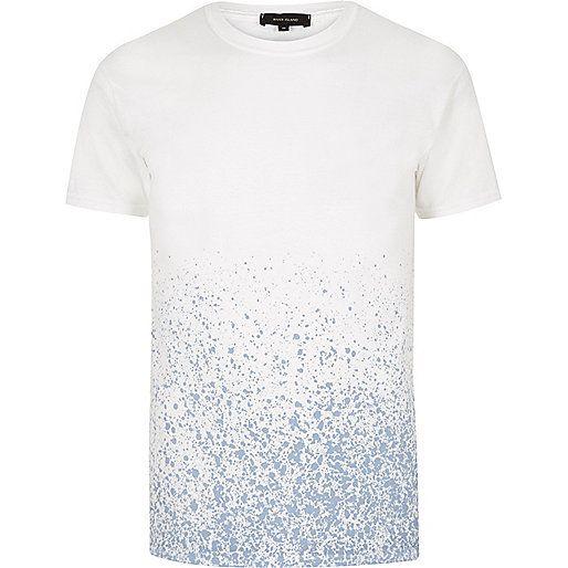 Splattered print t-shirt medium