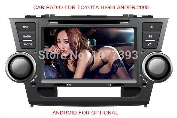 Nice Toyota Highlander 2017: Car Radio Audio DVD Player Russian Menu GPS TV BT iPod Games For TOYOTA HIGHLANDER KLUGER 2008~2012 For Retail/Pcs Free Shipping - shop online