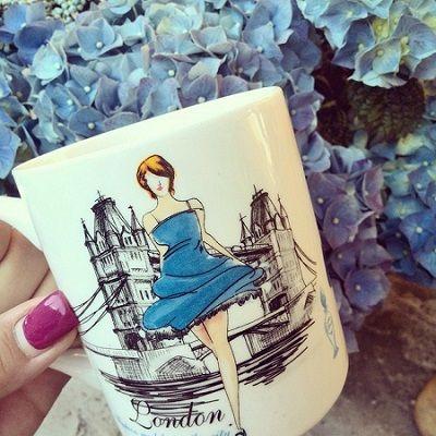 Blue, coffee