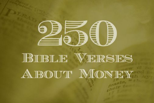 What the bible says about money.  A couple of these are going on notecards in my wallet!!