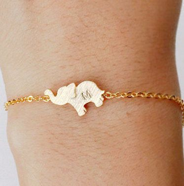 Elephant bracelet, Personalized bracelet, initial bracelet, Personalized Jewelry, friendship bracelet, handstamp initial, christmas gift