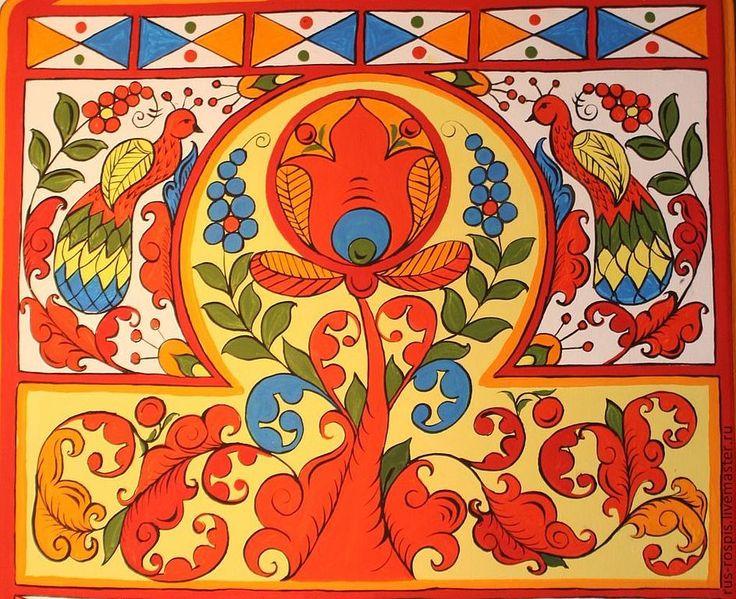 северодвинская роспись по дереву - Поиск в Google