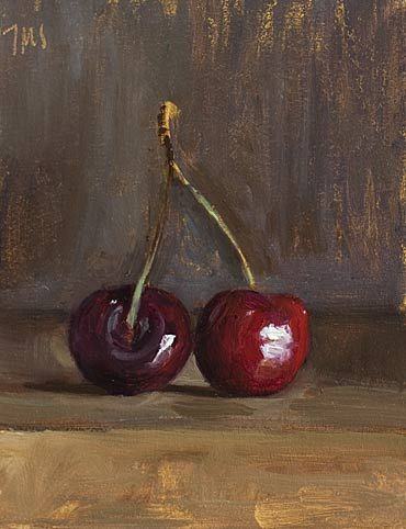 daily painting titled Cherries #1 - click for enlargement