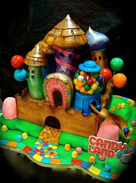 Candy Land CakeCandies Land, Birthday Parties, 5Th Birthday, Boards Games, Land Cake, 60Th Anniversaries, Candyland, Birthday Cake, Candy Land