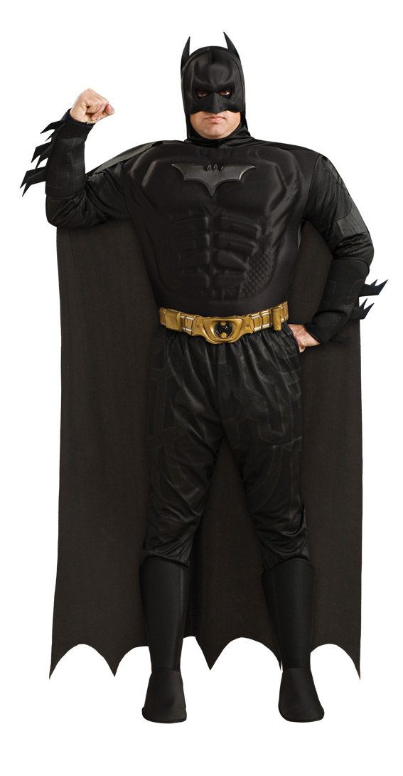 Plus Size Deluxe Muscle Chest Batman Dark Knight Costume - Mr. Costumes