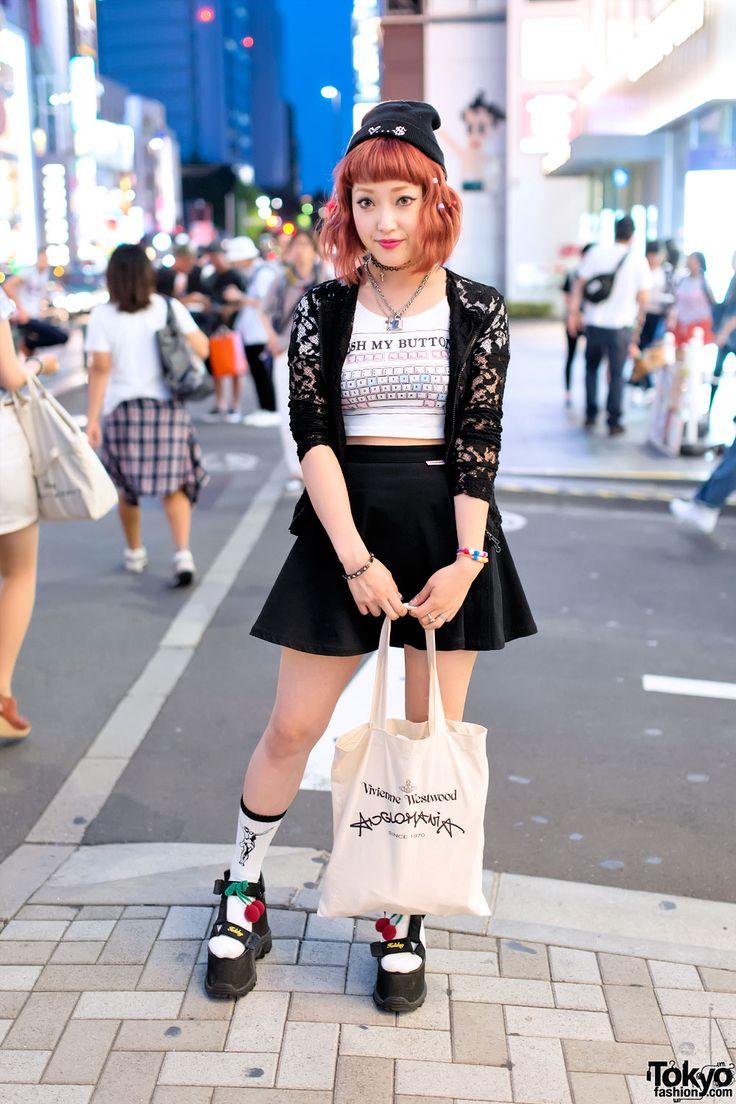 """Push My Buttons"" Top, K3 Platform Sandals & Vivienne Westwood in Harajuku"