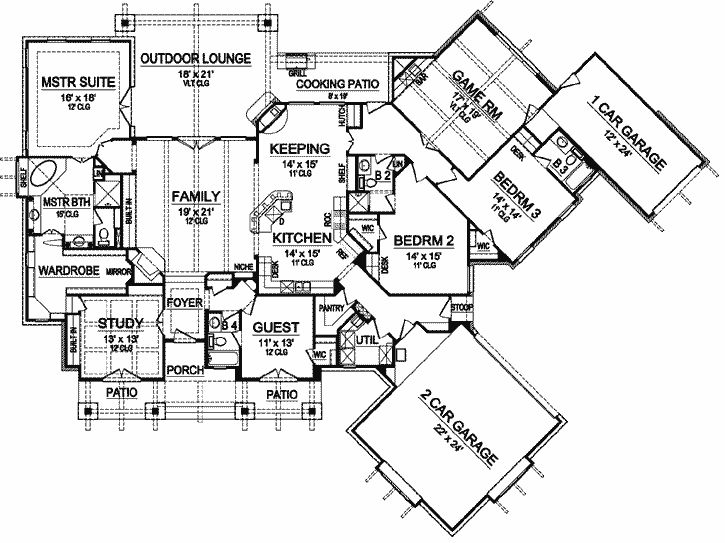 303 best dreamy house plans images on pinterest house floor Luxury Waterfront Home Plans luxury style house plans 3584 square foot home , 1 story, 4 bedroom and luxury waterfront home plans
