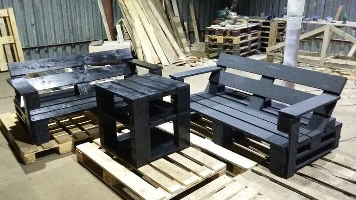 Диван+диван+стол=мебель из паллет