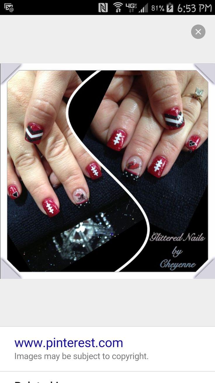 18 best Arizona Cardinals Nails and Makeup images on Pinterest   Az ...