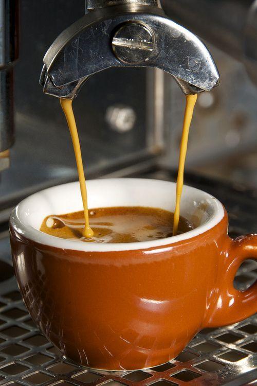 Espresso-- perfect crema: