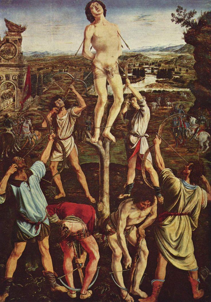 Антонио дель Поллайоло. Мученичество св. Себастьяна.1473-1475 гг.
