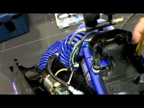 Silent air compressor using a refrigerator compressor. - YouTube
