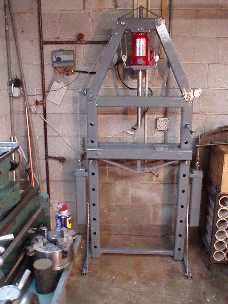 Hydraulic press by arlo kilmer homemade hydraulic press for 2 1 2 metratura del garage