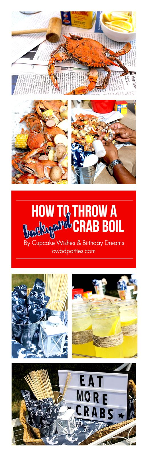 Cupcake Wishes & Birthday Dreams: Host a Backyard Crab Boil Party