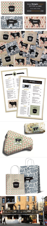visual ID / sauce restaurant #identity #packaging #branding #marketing PD