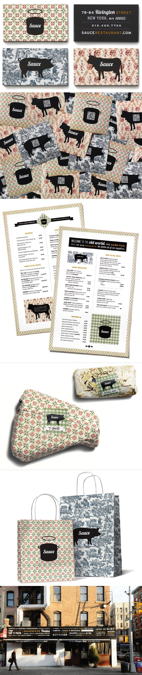 Yummy visual ID sauce restaurant identity packaging branding marketing curated by Packaging Diva PD