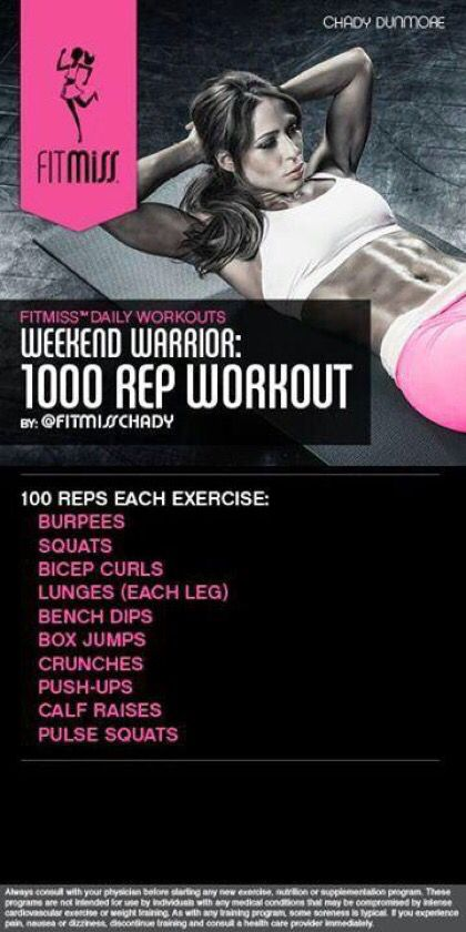 1000 Rep Workout by FitMiss Chady Dunmore