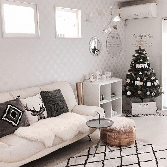 デコ窓/ムートン/オーナメント/フランフラン/IKEA/アーバニア…などのインテリア実例 - 2016-12-24 19:03:40 | RoomClip(ルームクリップ)