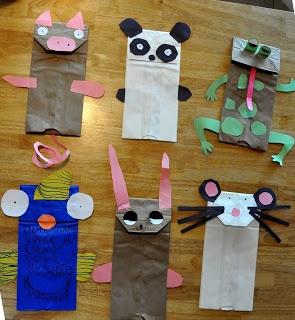 That Crazy Homeschooler: paper bag puppets