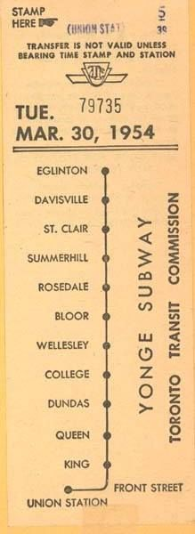 TTC Transfer 1954 Source: Vintage Toronto https://www.facebook.com/photo.php?fbid=592377324165589&set=a.256045541132104.59461.256041347799190&type=1&theater