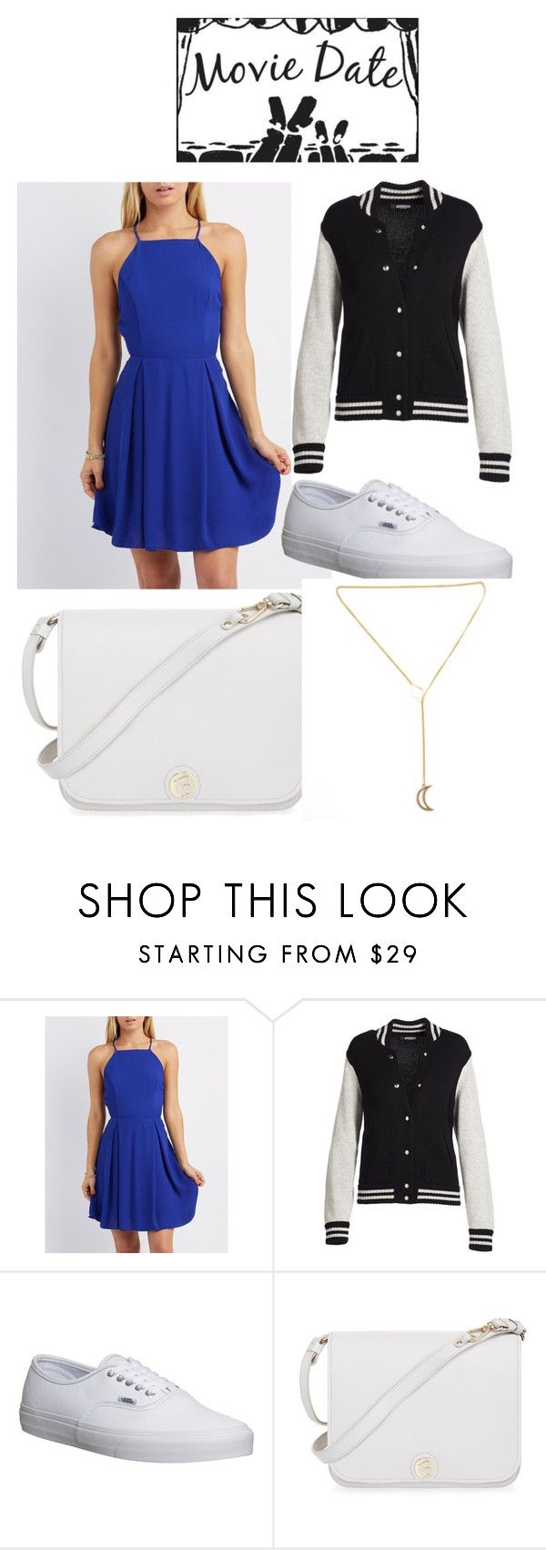 """Movie Date outfit pt.2"" by jsd13711 on Polyvore featuring Charlotte Russe, Marc Jacobs, Vans and Furla"