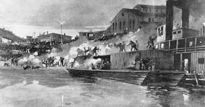 The Homestead Strike of 1892. Sucks to be Carnegie. Good thing my workers will never strike on me.